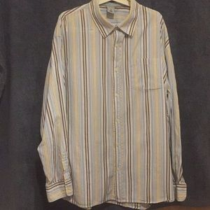 Old Navy long sleeve stripped men's button down